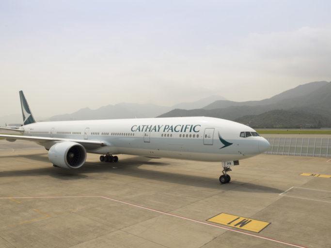 Toestel van Cathay Pacific