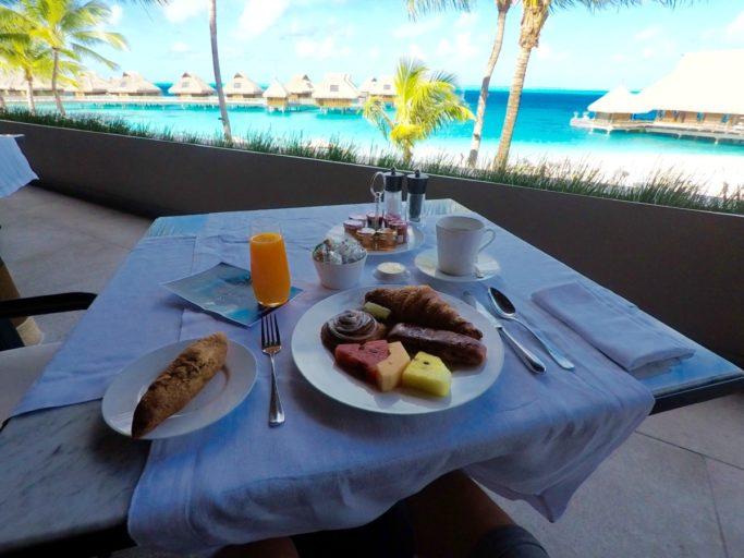 ontbijt, hilton, Conrad, bora bora nui