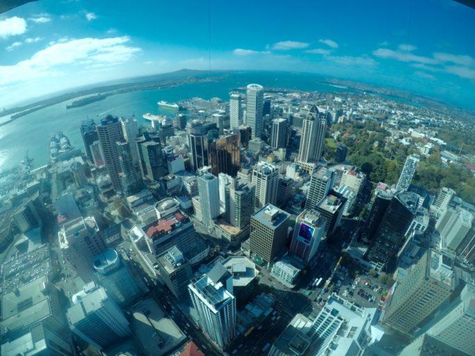 Auckland, sky tower, nieuw zeeland