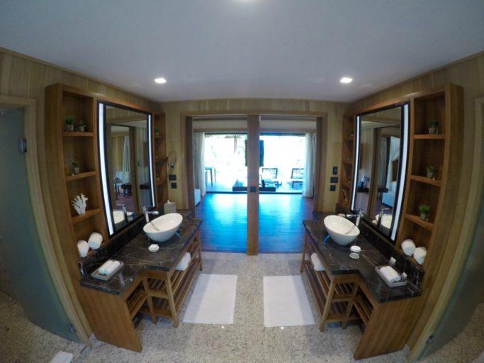 badkamer, villa, bora bora, Conrad
