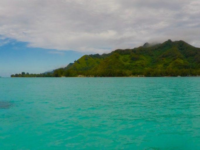 moorea, boot, frans-polynesië