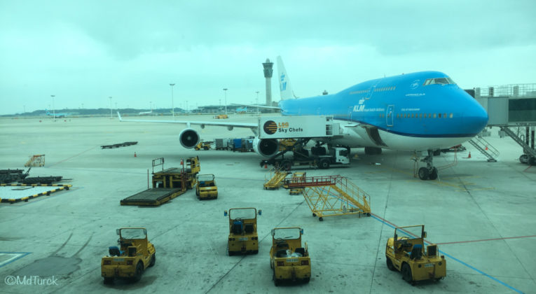 Review KLM Boeing 747 Economy Comfort Amsterdam - Seoul
