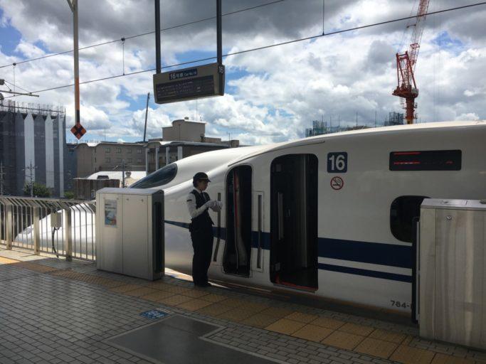 De snelle Japanse Shinkansen trein