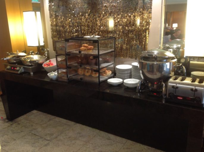hilton, executive lounge, ontbijtbuffet