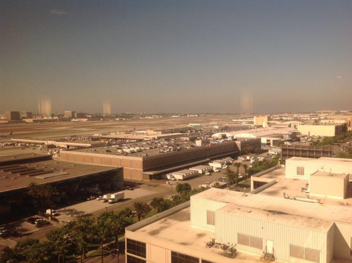 lounge, luchthaven, los Angeles, hilton