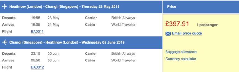 Heel de wereld in uitverkoop bij British Airways