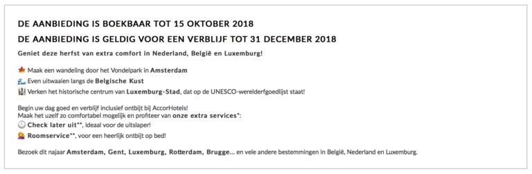 Aanbiedingen in de Benelux
