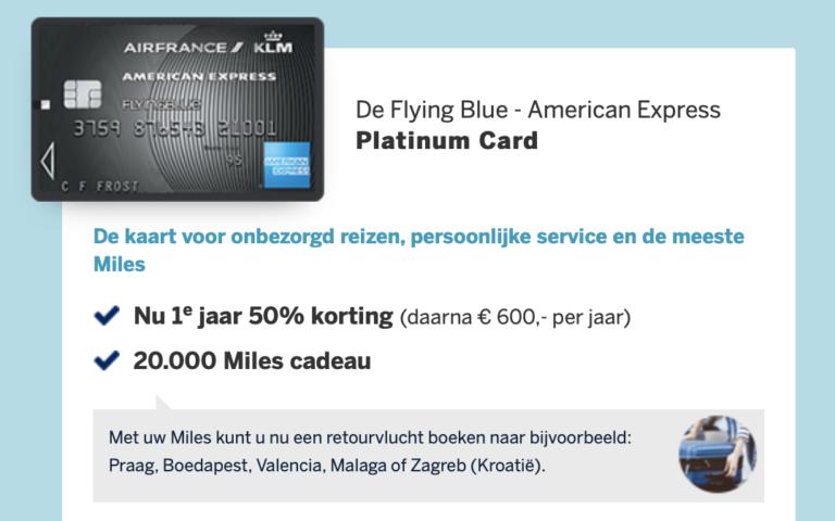 De American Express Flying Blue Platinum kaart