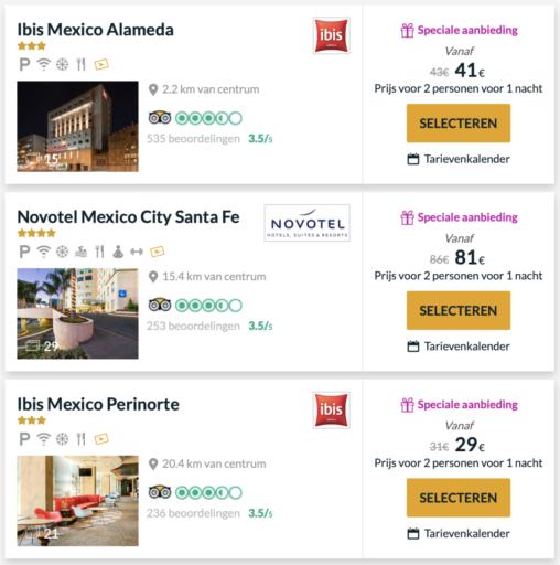 Aanbiedingen in Mexico-Stad