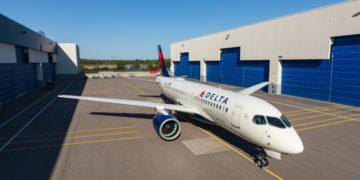 Zo ziet het A220 toestel eruit in de Delta livery (Foto: Delta)