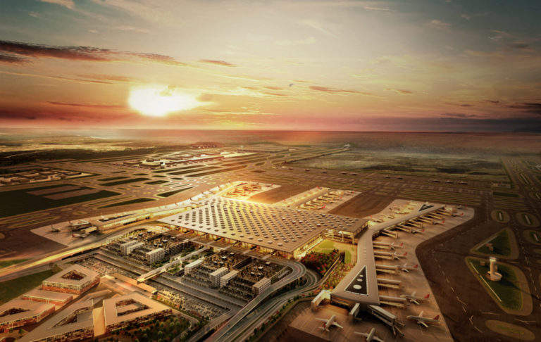 Istanbul New Airport van bovenaf gezien (Istanbul New Airport)