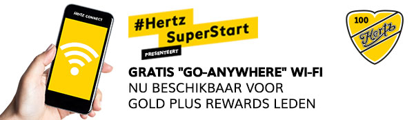 Gratis Wifi bij Hertz voor Gold Plus Rewards leden