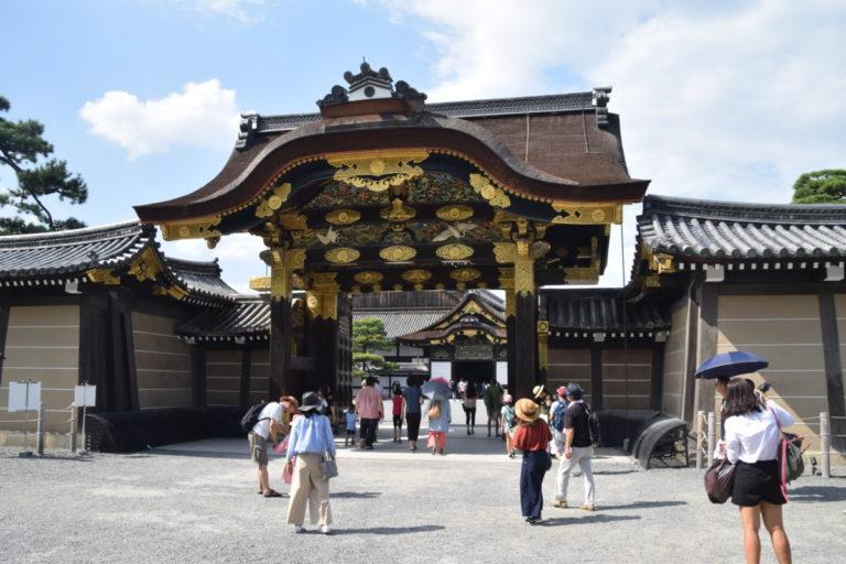 Een van de poorten in Kasteel Nijo