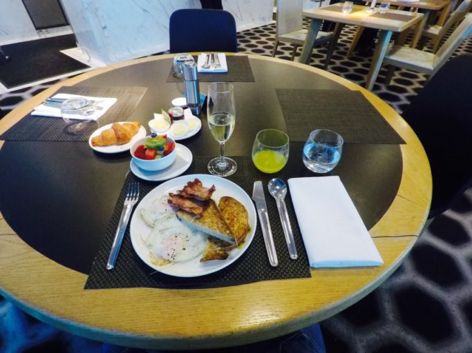 ontbijt, Qantas, first class, lounge, Melbourne