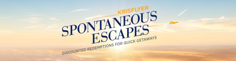Krisflyer Spontanous Escapes