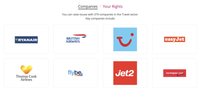 Een aantal voorbeelden van airlines waar Resolver mee werkt (Bron: Resolver)