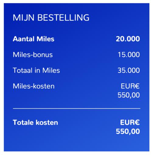 Bij aankoop van 20.000 miles krijg je 15.000 miles cadeau (Bron: Flying Blue)