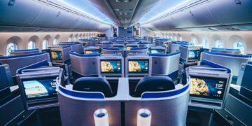 De United Polaris business class cabine (Bron: United)