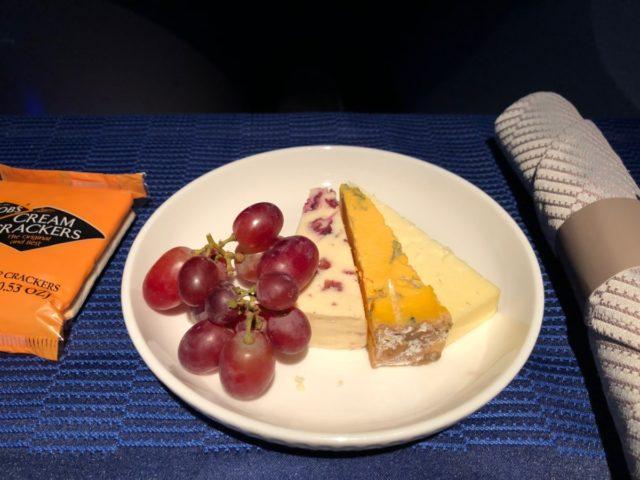 kaasplankje, dessert, united airlines