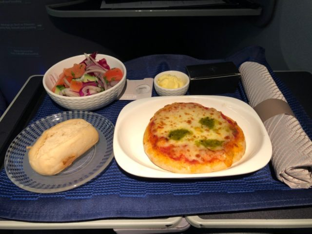 pizza, united, business class