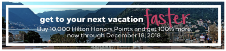 Hilton Honors buy points 100% bonus