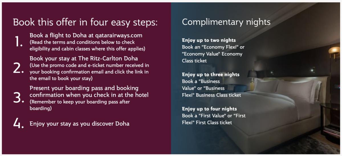 Gratis overnachting in Ritz-Carlton Doha met Qatar Airways