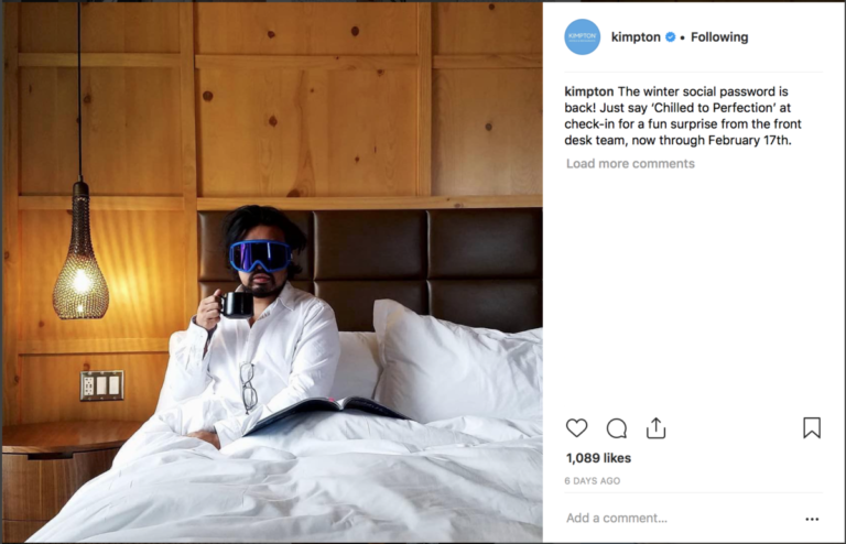 Kimpton Secret Password op sociale media (Bron: Instagram/Kimpton)
