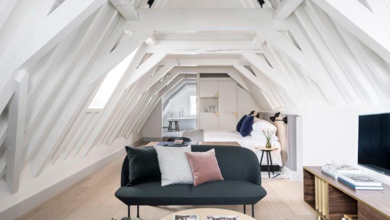 Eén van de bijzondere kamers van het Kimpton De Witt Amsterdam (Bron: Kimpton)