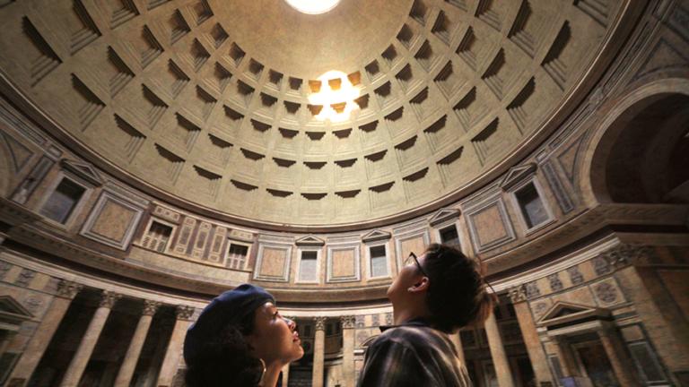 Een still uit een van de filmpjes over een reis naar Rome (Bron: KLM)