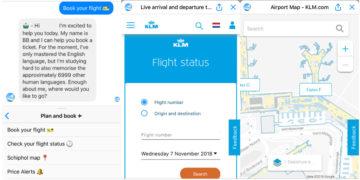 Hoe werkt de KLM Messenger App?
