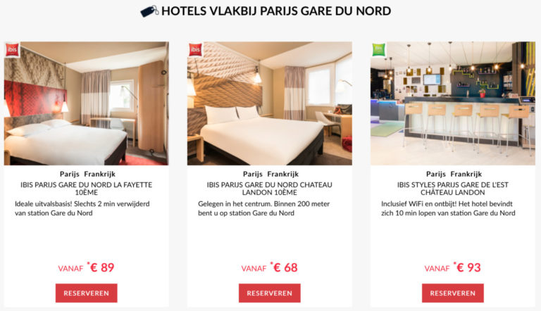 Reis je per trein naar Parijs? Dan zijn deze hotels wellicht een optie om te verblijven (Bron: AccorHotels)