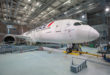 De Boeing 787 Dreamliner van Air France staat in de hangar (Bron: Air France