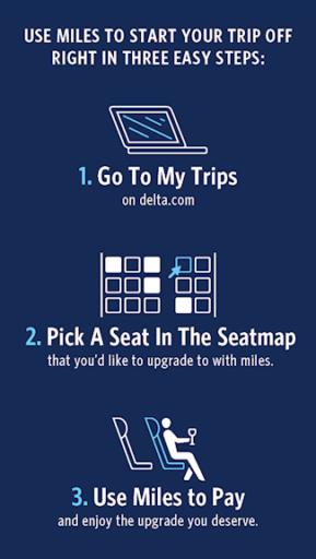 Upgrade je ticket nu met miles (Bron: Delta)