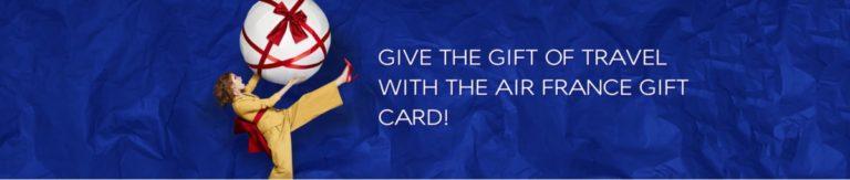De Giftcard is een nieuw product van Air France (Bron: Air France)