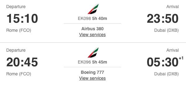 Emirates opent nieuwe lounge op Rome Airport