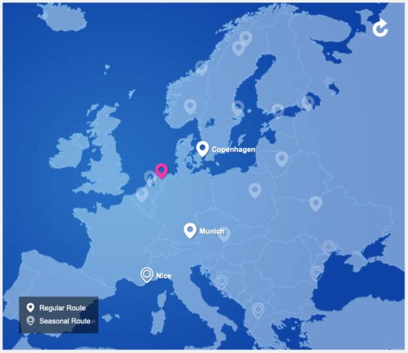 Nordica vliegt vanaf Groningen naar München en Kopenhagen (Bron: Nordica)