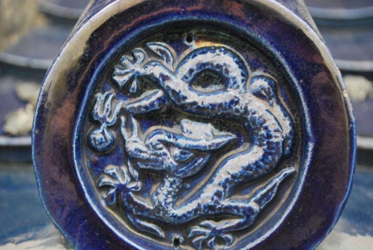 Een detail van de prachtige versieringen