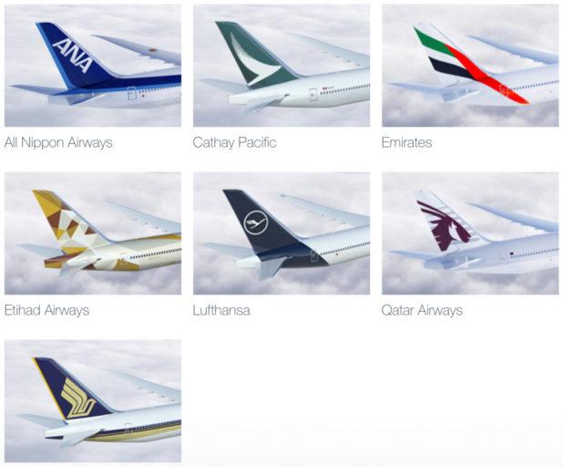 Deze maatschappijen zullen de 777X in de toekosmt ontvangen (Bron: Boeing)