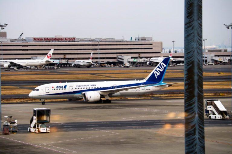 Dreamliner van All Nippon Airways op Tokyo International Airport