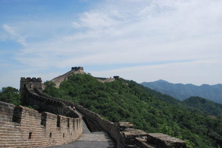 De Chinese muur bij Mutianyu