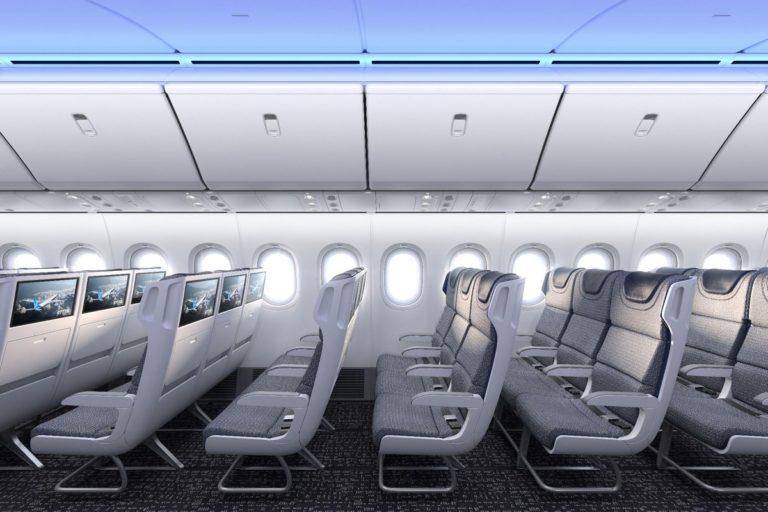 Deze week publiceerde Boeing een impressie van de 777X cabine (Bron: Boeing)
