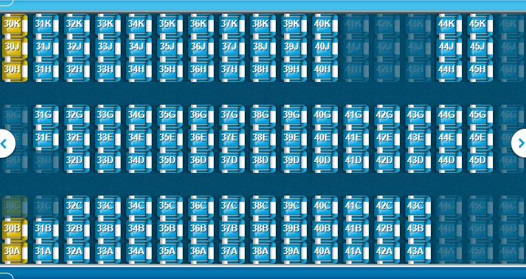 KLM B787-10 tweede deel economy class