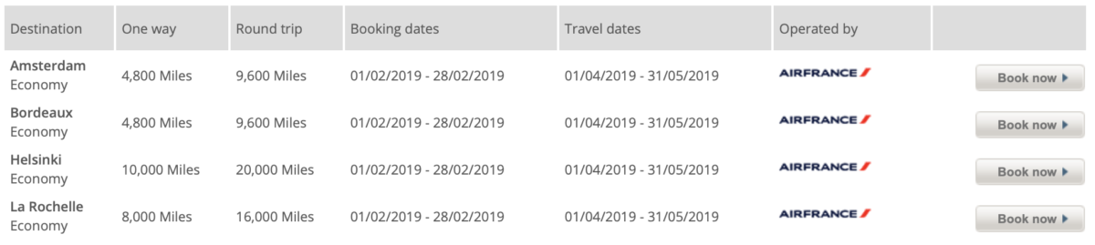 Flying Blue Promo Rewards februari 2019