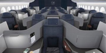 Business Class cabine in de Boeing 777-9 van Lufthansa (Bron: Lufthansa Group)