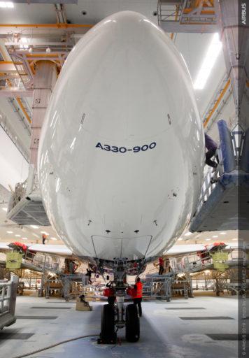 Vooraanzicht van de A330-900 van Delta (Bron: Delta)