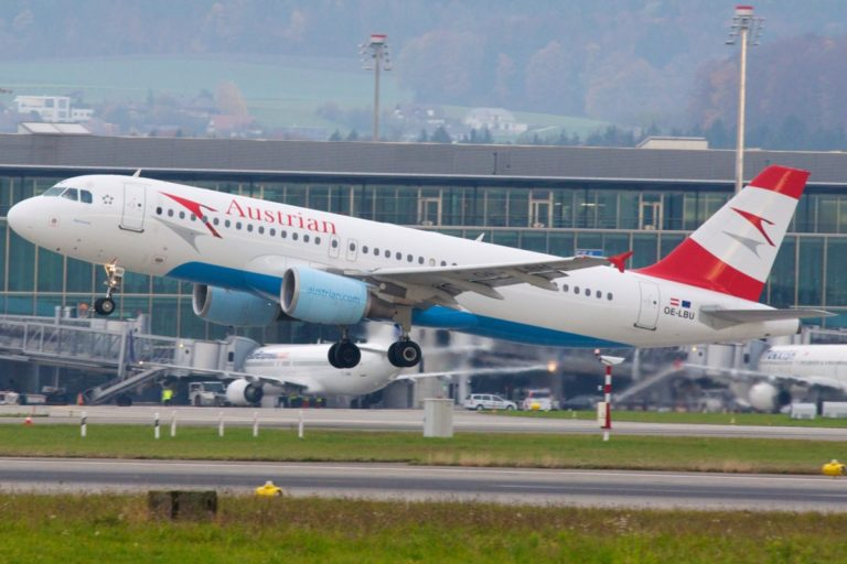 A320-200 van Austrian Airlines (Bron: Lufthansa)