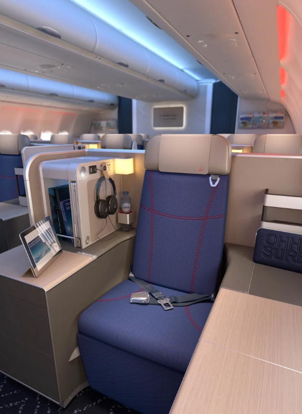 Brussels Airlines business class 3