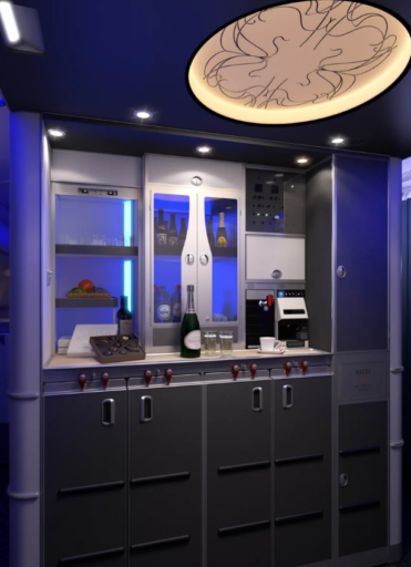 Brussels Airlines self service bar