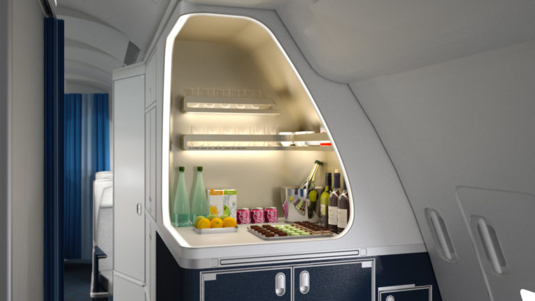 Air France A330 Business Class bar