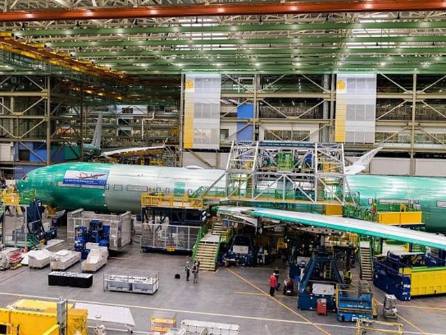 Lufthansa 777X in de fabriek van Boeing (Bron: Boeing)